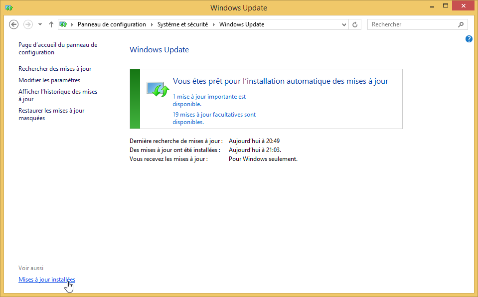 desinstaller lapplication obtenir windows 10 supprimer icone windows 10 mises a jour installees 1
