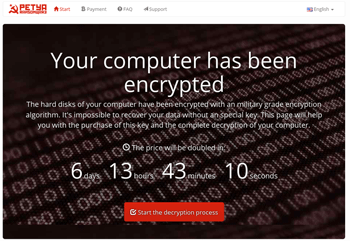 petya your computer has been encrypted